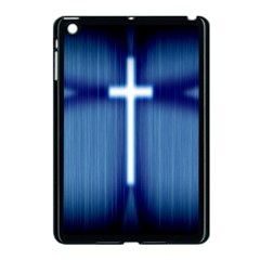 Blue Cross Christian Apple Ipad Mini Case (black) by Mariart