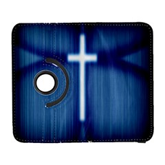 Blue Cross Christian Galaxy S3 (flip/folio) by Mariart