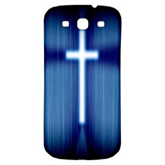 Blue Cross Christian Samsung Galaxy S3 S Iii Classic Hardshell Back Case by Mariart