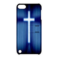 Blue Cross Christian Apple Ipod Touch 5 Hardshell Case With Stand by Mariart