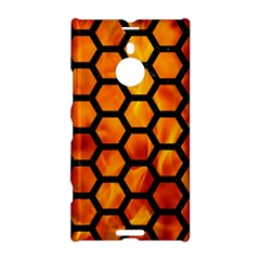 Hexagon2 Black Marble & Fire (r) Nokia Lumia 1520 by trendistuff