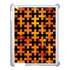 Puzzle1 Black Marble & Fire Apple Ipad 3/4 Case (white) by trendistuff