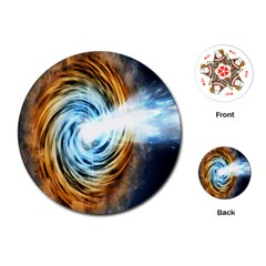 A Blazar Jet In The Middle Galaxy Appear Especially Bright Playing Cards (round)  by Mariart