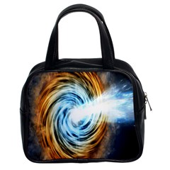 A Blazar Jet In The Middle Galaxy Appear Especially Bright Classic Handbags (2 Sides) by Mariart