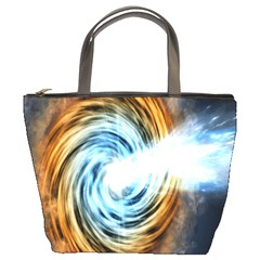 A Blazar Jet In The Middle Galaxy Appear Especially Bright Bucket Bags by Mariart