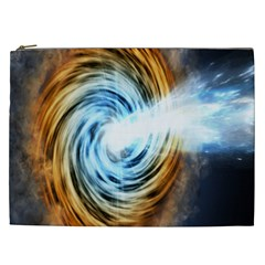 A Blazar Jet In The Middle Galaxy Appear Especially Bright Cosmetic Bag (xxl)  by Mariart