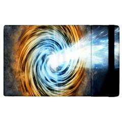 A Blazar Jet In The Middle Galaxy Appear Especially Bright Apple Ipad 3/4 Flip Case by Mariart