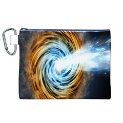 A Blazar Jet In The Middle Galaxy Appear Especially Bright Canvas Cosmetic Bag (xl) by Mariart