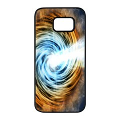 A Blazar Jet In The Middle Galaxy Appear Especially Bright Samsung Galaxy S7 Edge Black Seamless Case by Mariart