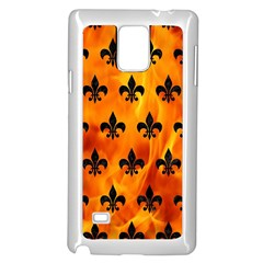 Royal1 Black Marble & Fire Samsung Galaxy Note 4 Case (white) by trendistuff