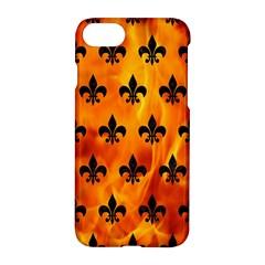 Royal1 Black Marble & Fire Apple Iphone 7 Hardshell Case
