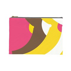 Breast Pink Brown Yellow White Rainbow Cosmetic Bag (large)  by Mariart
