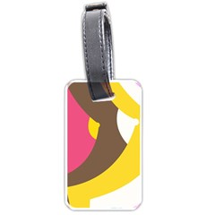 Breast Pink Brown Yellow White Rainbow Luggage Tags (one Side)  by Mariart