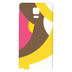 Breast Pink Brown Yellow White Rainbow Galaxy Note 4 Back Case by Mariart