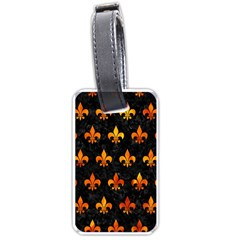 Royal1 Black Marble & Fire (r) Luggage Tags (one Side)  by trendistuff