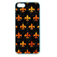 Royal1 Black Marble & Fire (r) Apple Seamless Iphone 5 Case (color) by trendistuff