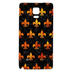 Royal1 Black Marble & Fire (r) Galaxy Note 4 Back Case