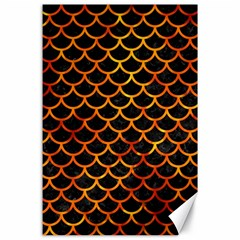 Scales1 Black Marble & Fire Canvas 24  X 36  by trendistuff
