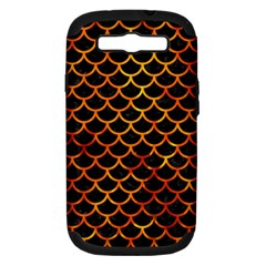 Scales1 Black Marble & Fire Samsung Galaxy S Iii Hardshell Case (pc+silicone) by trendistuff