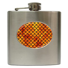 Scales1 Black Marble & Fire (r) Hip Flask (6 Oz) by trendistuff