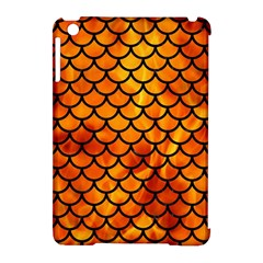 Scales1 Black Marble & Fire (r) Apple Ipad Mini Hardshell Case (compatible With Smart Cover) by trendistuff