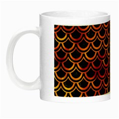 Scales2 Black Marble & Fire Night Luminous Mugs by trendistuff
