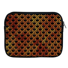 Scales2 Black Marble & Fire Apple Ipad 2/3/4 Zipper Cases by trendistuff