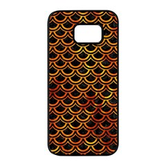 Scales2 Black Marble & Fire Samsung Galaxy S7 Edge Black Seamless Case by trendistuff