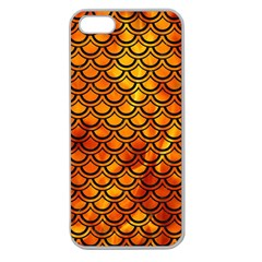 Scales2 Black Marble & Fire (r) Apple Seamless Iphone 5 Case (clear) by trendistuff