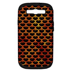 Scales3 Black Marble & Fire Samsung Galaxy S Iii Hardshell Case (pc+silicone) by trendistuff