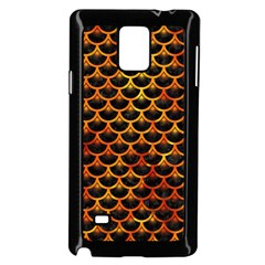 Scales3 Black Marble & Fire Samsung Galaxy Note 4 Case (black) by trendistuff