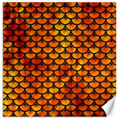 Scales3 Black Marble & Fire (r) Canvas 12  X 12   by trendistuff