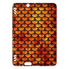 Scales3 Black Marble & Fire (r) Kindle Fire Hdx Hardshell Case by trendistuff