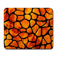 Skin1 Black Marble & Fire Large Mousepads by trendistuff