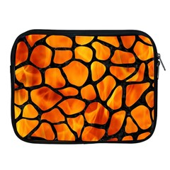 Skin1 Black Marble & Fire Apple Ipad 2/3/4 Zipper Cases by trendistuff
