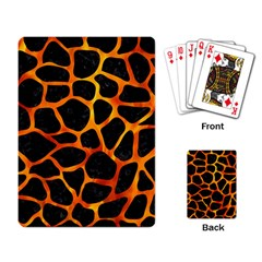 Skin1 Black Marble & Fire (r) Playing Card by trendistuff
