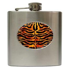 Skin2 Black Marble & Fire Hip Flask (6 Oz) by trendistuff