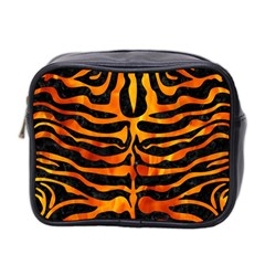 Skin2 Black Marble & Fire Mini Toiletries Bag 2 Side by trendistuff