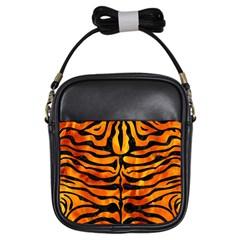 Skin2 Black Marble & Fire (r) Girls Sling Bags by trendistuff