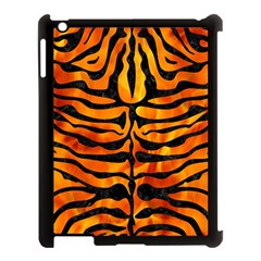 Skin2 Black Marble & Fire (r) Apple Ipad 3/4 Case (black) by trendistuff
