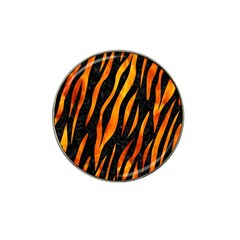 Skin3 Black Marble & Fire Hat Clip Ball Marker (10 Pack) by trendistuff
