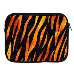 Skin3 Black Marble & Fire Apple Ipad 2/3/4 Zipper Cases by trendistuff