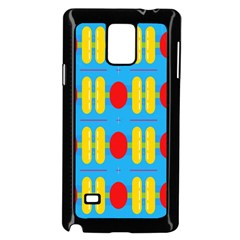 Ovals And Stripes Pattern                      Samsung Galaxy Note 4 Case (color) by LalyLauraFLM