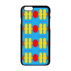 Colorful Shapes On A White Background Apple Iphone 6/6s Black Enamel Case	$10