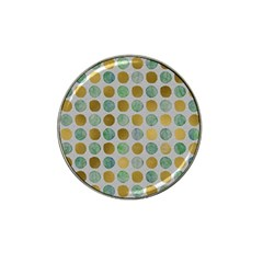 Green And Golden Dots Pattern                            Hat Clip Ball Marker by LalyLauraFLM