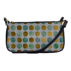 Green And Golden Dots Pattern                            Shoulder Clutch Bag by LalyLauraFLM