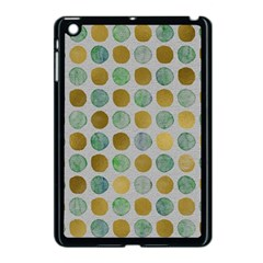 Green And Golden Dots Pattern                      Apple Ipad Mini Hardshell Case by LalyLauraFLM