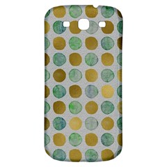 Green And Golden Dots Pattern                      Samsung Galaxy S Iii Flip 360 Case by LalyLauraFLM