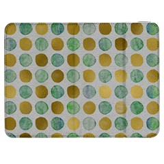 Green And Golden Dots Pattern                      Htc One M7 Hardshell Case by LalyLauraFLM
