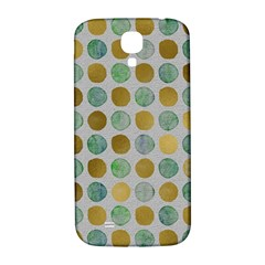 Green And Golden Dots Pattern                      Samsung Note 2 N7100 Hardshell Back Case by LalyLauraFLM